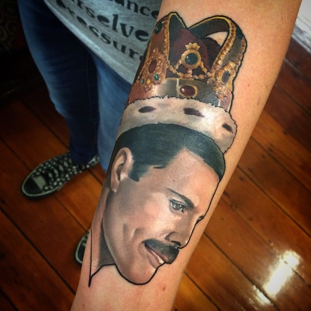 Freddie Mercury Tattoo by Miss Niki Star
