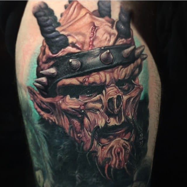 Oderus Urungus or Davie Brockie, GWAR @paulackertattoo