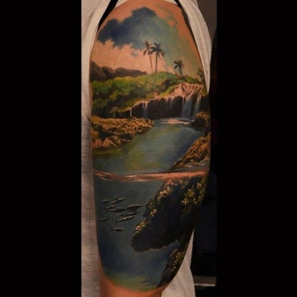 Would love to jump into this tattoo & swim right about now! *cries*