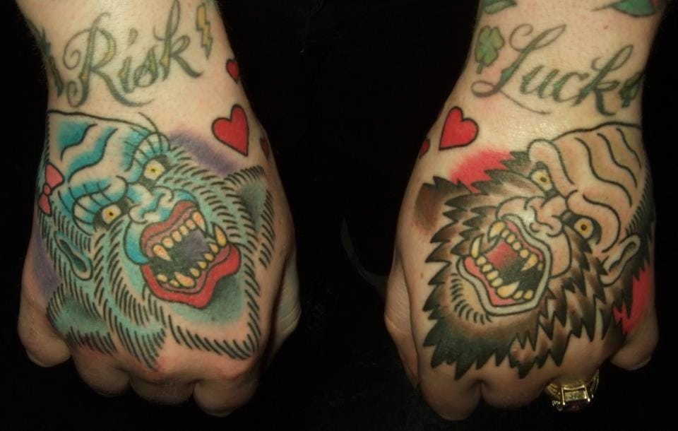 Yeti and Big Foot Tattoos, artist unknown
