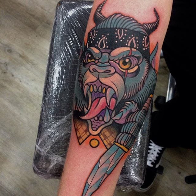 Yeti Tattoo by Manu Cruz