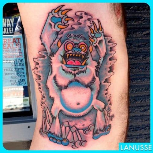 Yeti Tattoo, artist unknown
