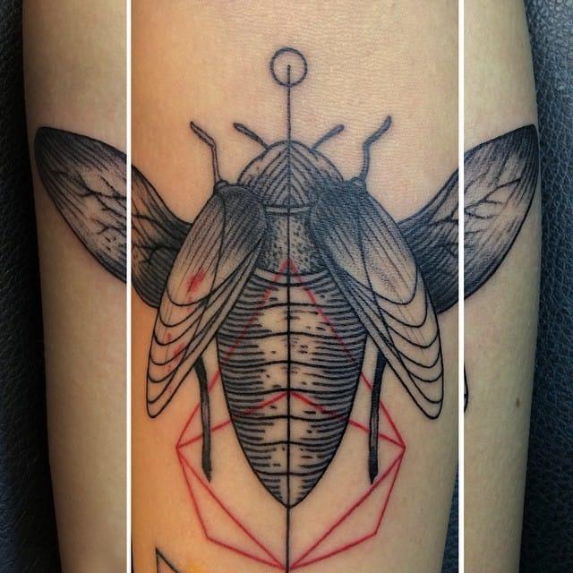 Beetle Tattoo by Savaş Doğan
