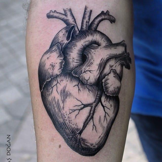Heart Tattoo by Savaş Doğan