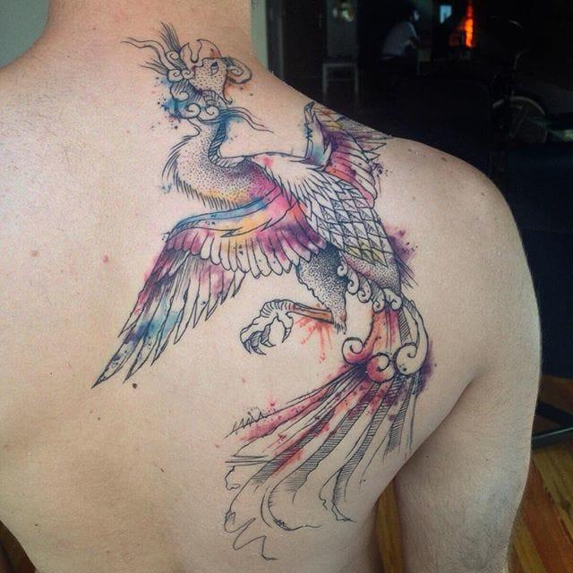 Phoenix Tattoo by Savaş Doğan