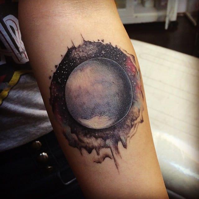 Pluto Tattoo by Savaş Doğan