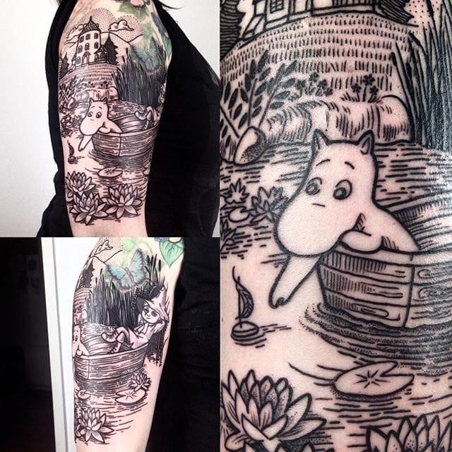 Moomin Tattoo by @lordenstein