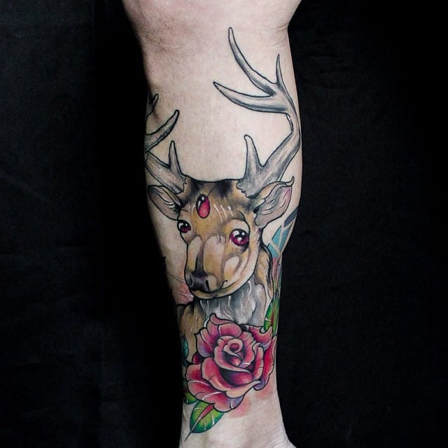 Anzo's deer with a rose