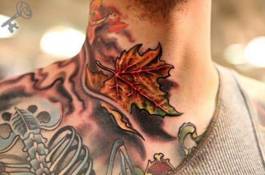 40 Colorful Fall Tattoos
