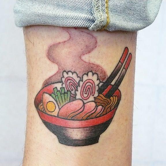 Ramen Tattoo by Tania Zhang