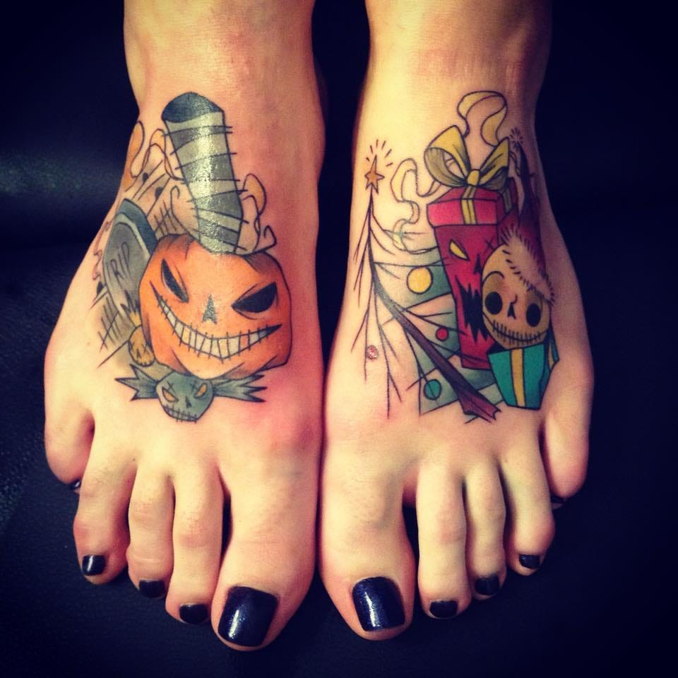 The Nightmare before Christmas inspired feet.