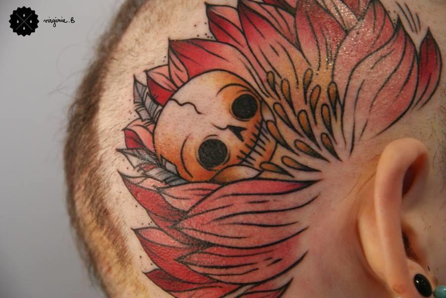Gorgeous scalp tattoo!