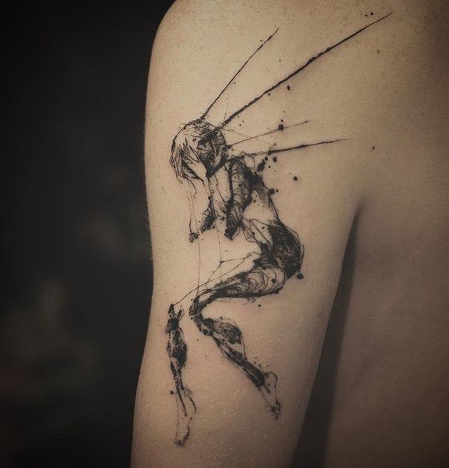 Creative Elegant Fashion Logo: The Abstract Blackwork Tattoos Of Nadi