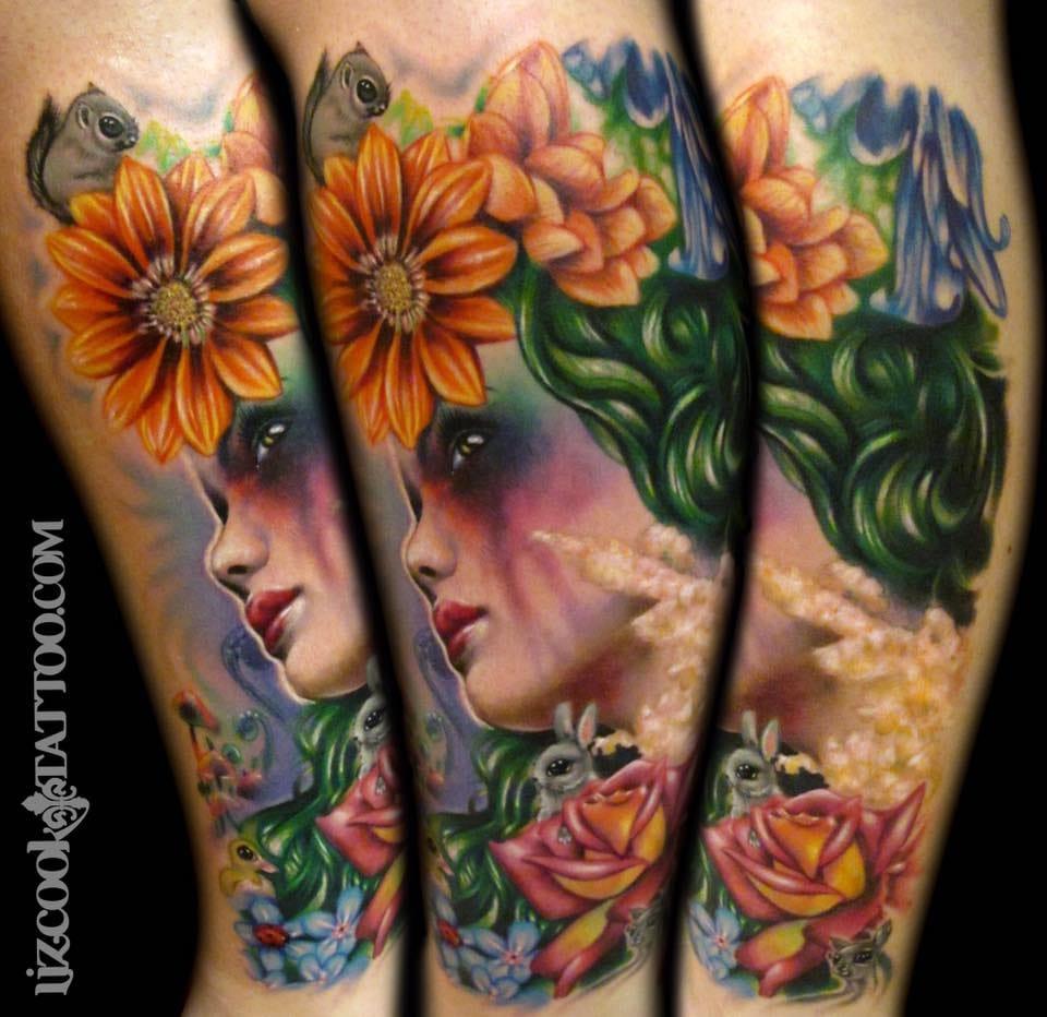 Amazing tattoo by Liz Cook.