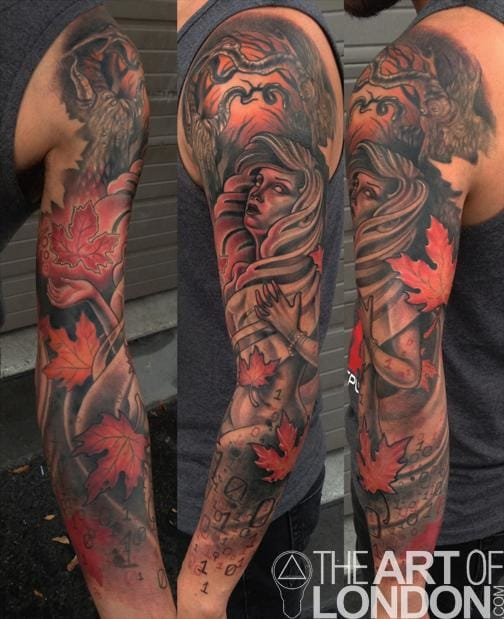 Another spooky sleeve by London Reese.