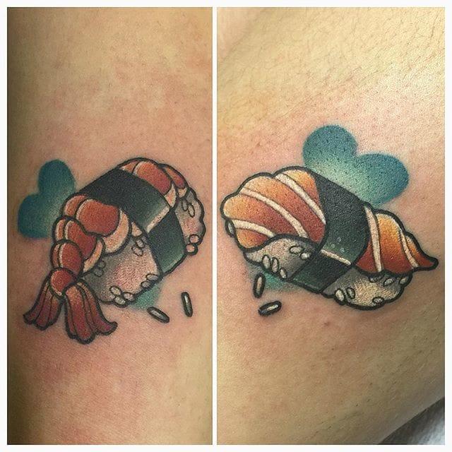 Sushi Tattoos by doskaladas/Instagram