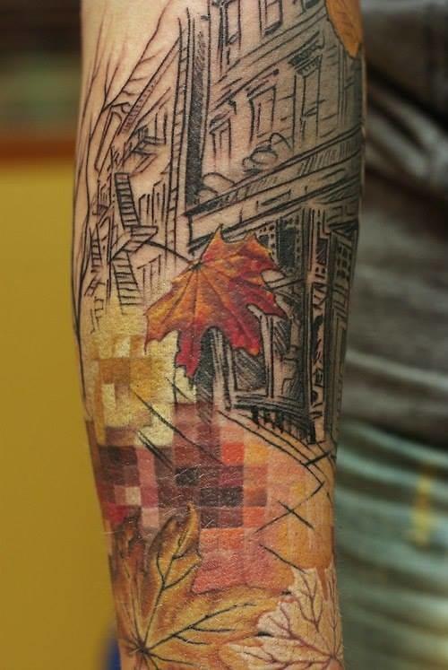 Unique tattoo by Evgueni Knich!