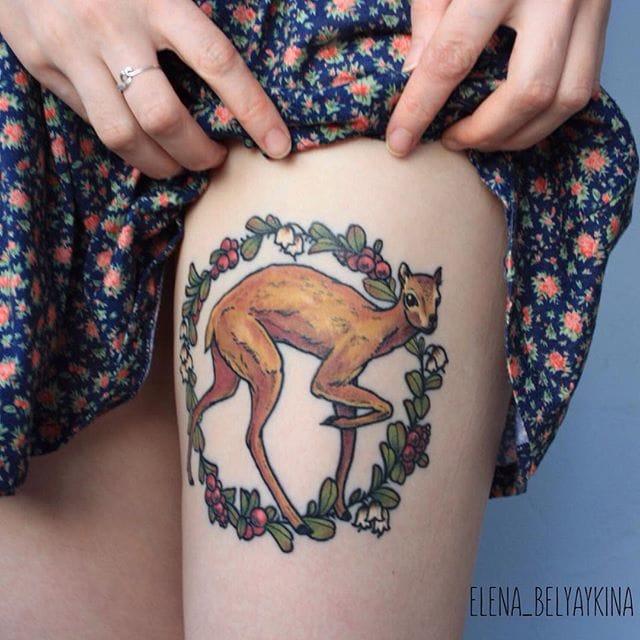 Endearing Nature Tattoos By Elena Belyaykina