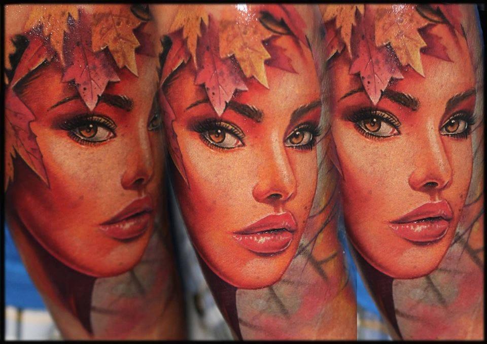 Pretty fall girl by Eszter Karady.