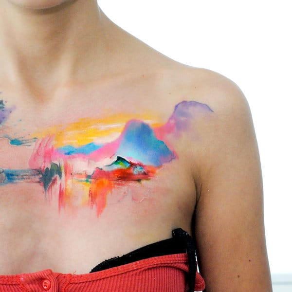 Painting Style Tattoos By Aleksandra Katsan