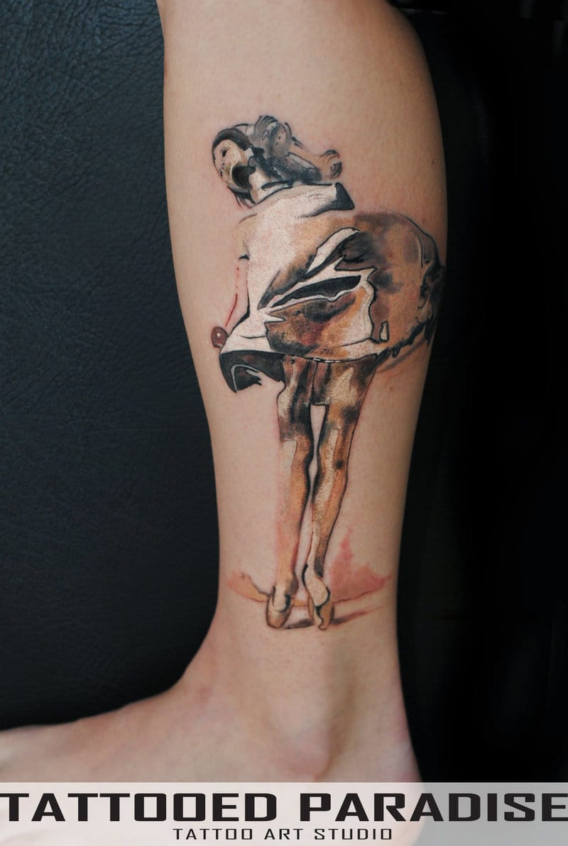 Pretty painting style tattoo