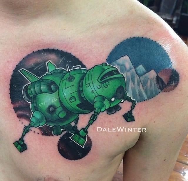 Red Dwarf Tattoo by Dale Winter