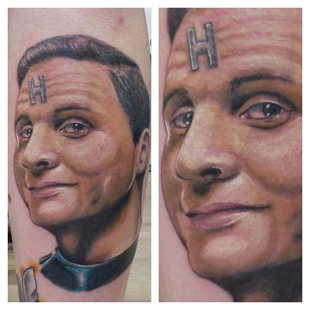Arnold Rimmer Tattoo by @tattoos_by_dcain
