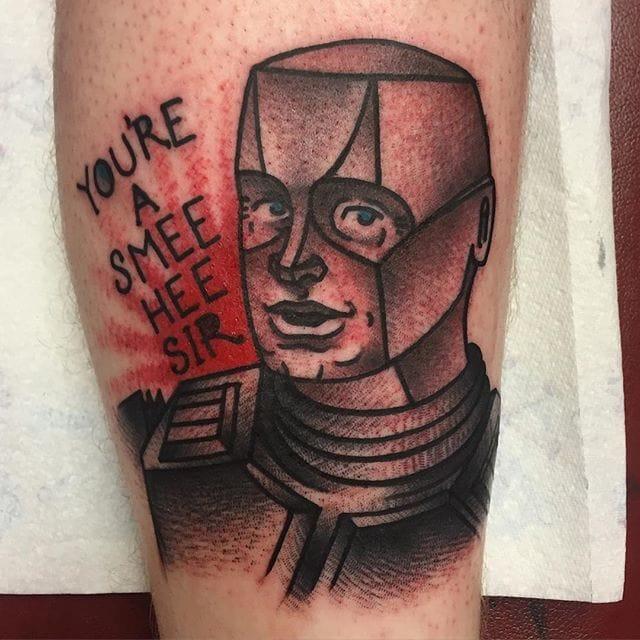 Kryten Tattoo by Ian Parkin