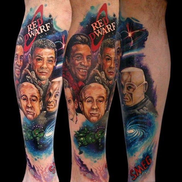 Red Dwarf Tattoo by Twisted Chilli Tattoo Studio