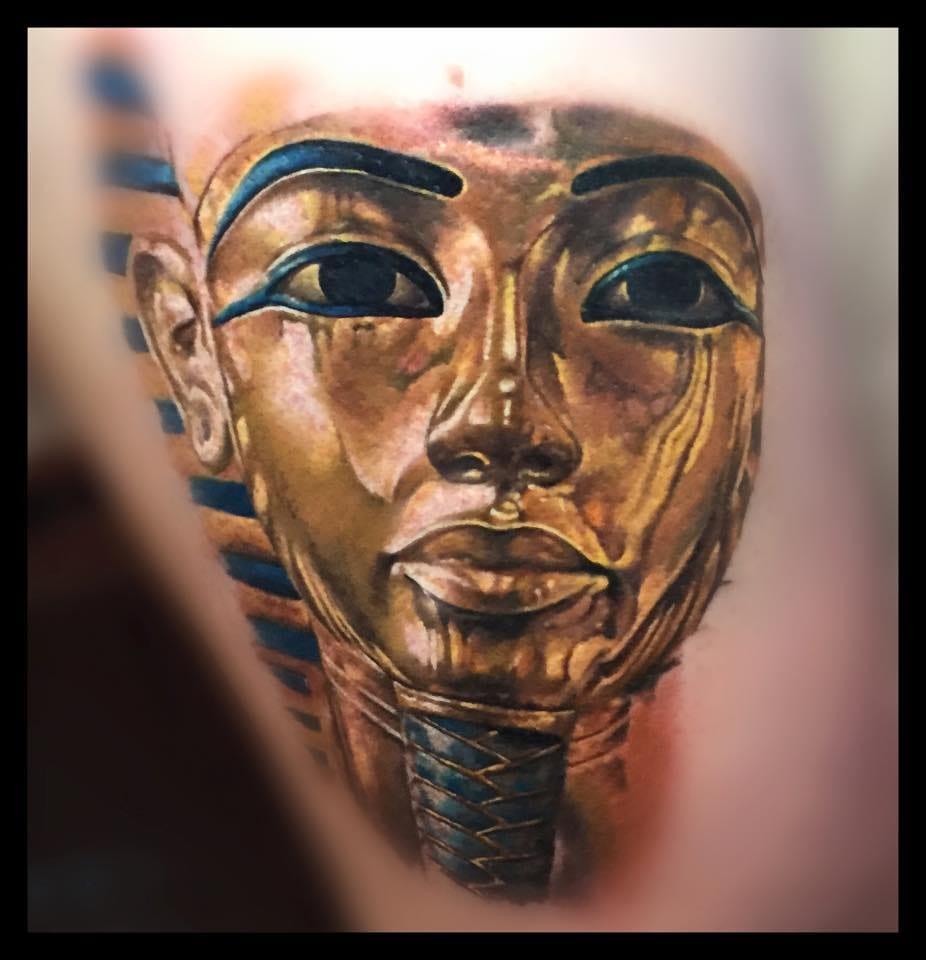 In Progress Tutankhamun Tattoo by  Zsofia Belteczky