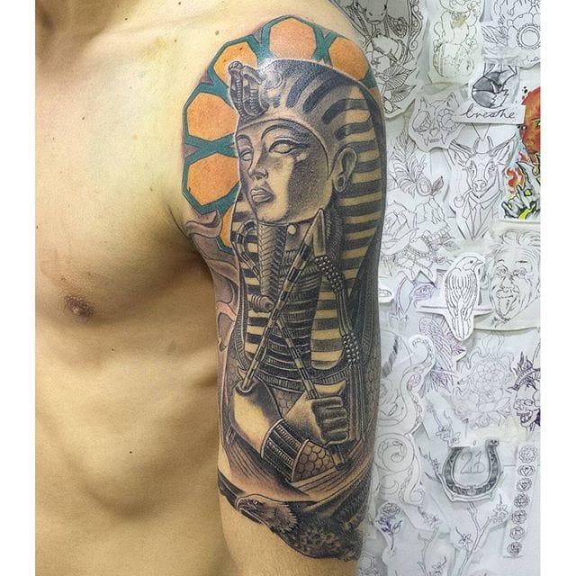 Tutankhamun Tattoo by Diego Ojeda