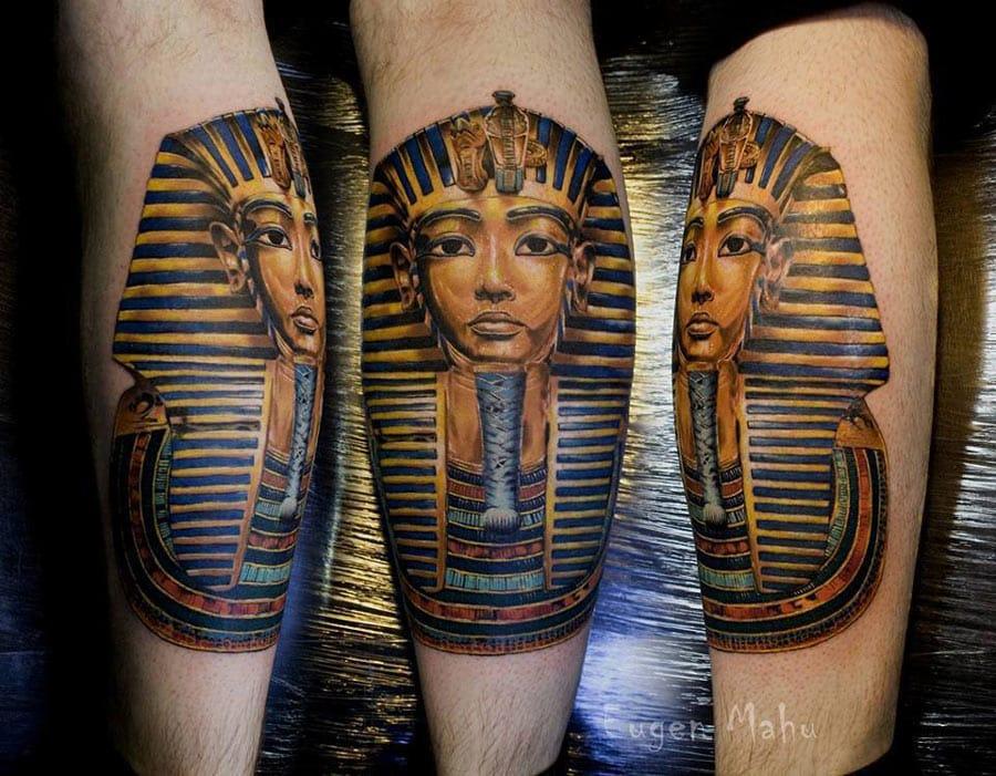 Tutankhamun Tattoo by Eugen Mahu