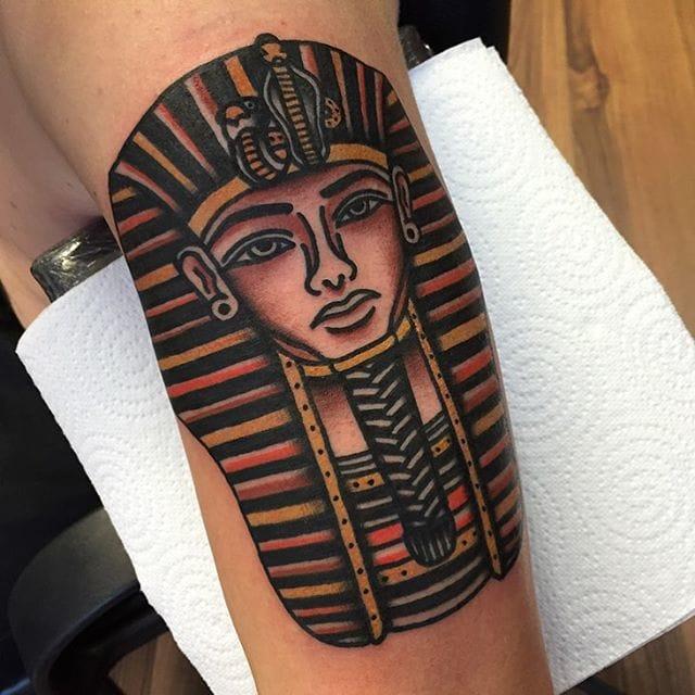 Tutankhamun Tattoo by Kelly Smith