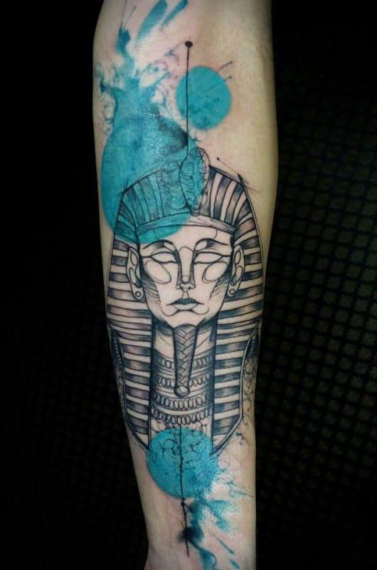 Tutankhamun Tattoo by Maxwell Alves