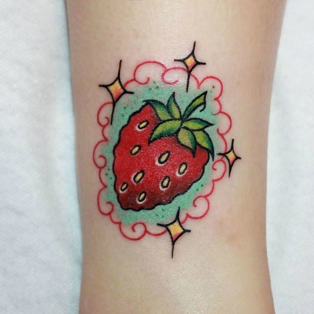 18 Sweet and Succulent Strawberry Tattoos