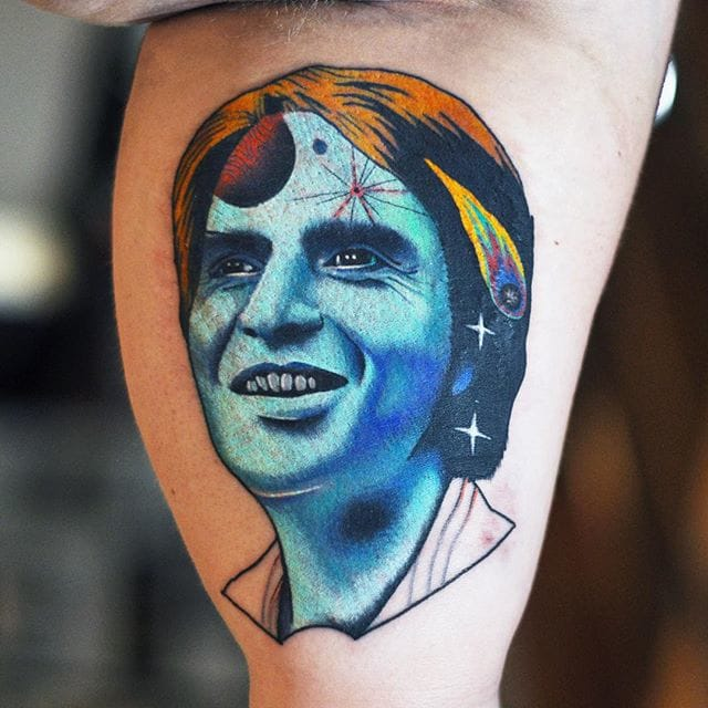Colorful Surreal Portrait Tattoos by David Cote
