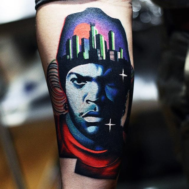 Ice Cube tattoo by David Cote