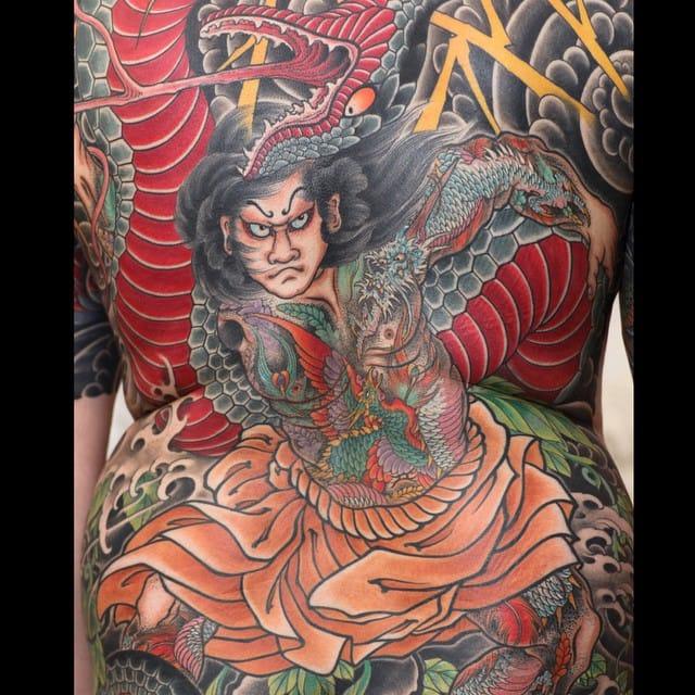 Back tattoo by Johan Svahn
