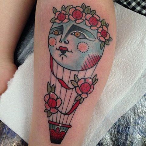 Hot Air Balloon Tattoo by Jody Dawber