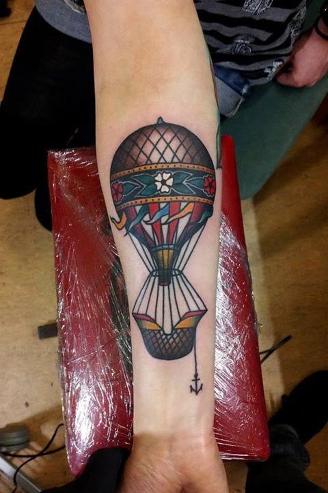 Hot Air Balloon Tattoo by Mauro Quaresima