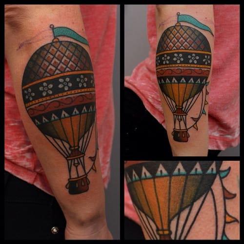 Hot Air Balloon Tattoo by Tony Nilsson