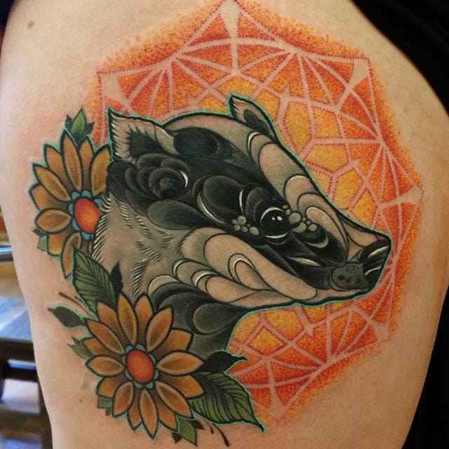 12 Pleasant Badger Tattoos