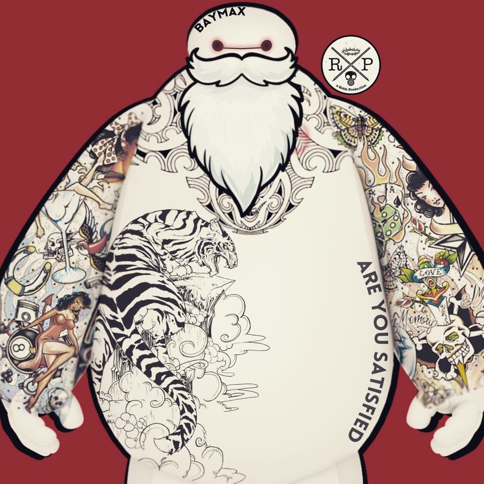 Tatted up Baymax, A Rokk Productions