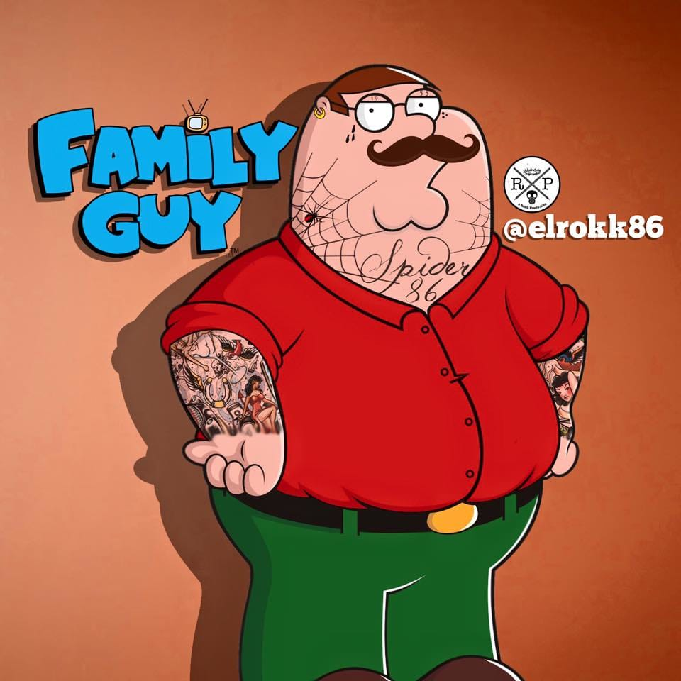 Tatted up Peter Griffin, A Rokk Productions