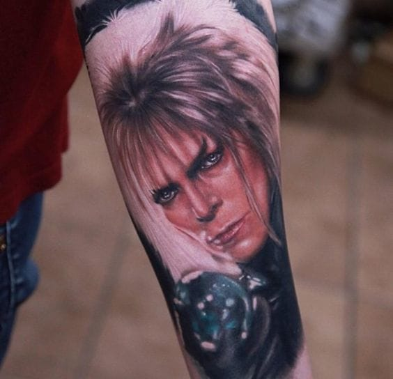 Jareth/Labyrinth tattoo by Rich Pineda