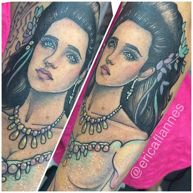 Sarah/Labyrinth tattoo by Erica Flannes