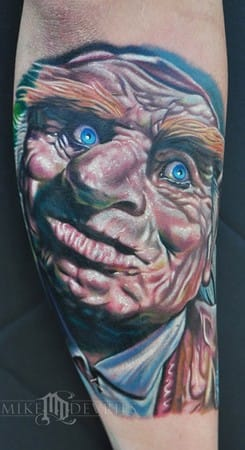 Hoggle/Labyrinth tattoo by Mike Devries