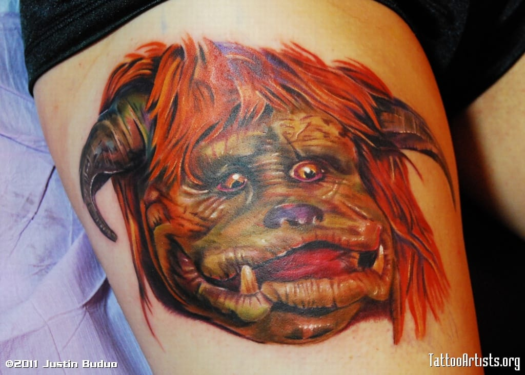 Ludo/Labyrinth tattoo by Justin Buduo