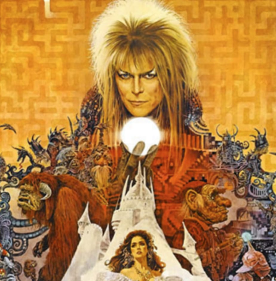 Image from the original 1986 Labyrinth movie poster