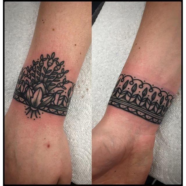 Cuff Tattoo by Bastien Jean